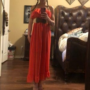 Small maxi dress with belt